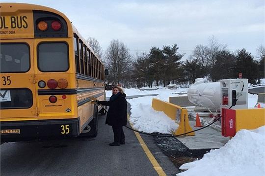 Derry Township School District has added three new Blue Bird Propane Vison buses to its fleet.