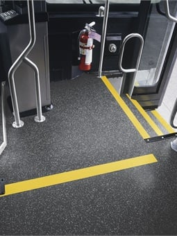 In addition to extensive wear-resistance, rubber flooring requires less maintenance, allowing these public spaces to have higher perceived cleanliness and less downtime due to servicing.Interface