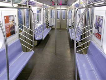 The New York City subway system, which welcomes approximately six million riders per day, is outfitted with rubber flooring, meeting the standards developed by the Federal Railroad Administration for fire and slip resistance.