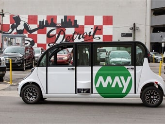 The best way to ensure a good outcome is to deploy AVs in managed fleets rather than as personal vehicles, Princeton University researchers say. Photo: May Mobility