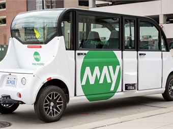 As part of the expansion, May Mobility has opened its first office outside of Ann Arbor at a new facility in Detroit. Photo: May Mobility