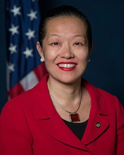 NTSB Vice Chairman Bella Dinh-Zarr now serves as the agency's acting chairman.