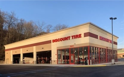 Discount Tire has opened its first store in Pennsylvania, and has promised to move into more markets in the state.