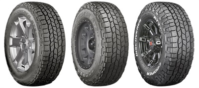 Cooper Tire is displaying its newest Discoverer AT3 lineup at its booth at the SEMA Show.