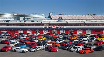 Dream Racing operates a fleet of more than 50 exotic sportscars for once-in-a-lifetime driving packages.