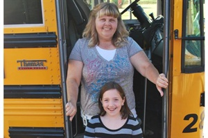 Michigan 10-year-old Charlotte nominated school bus driver Dawn Lemaster in the Thomas Built Buses Children's Choice essay contest.