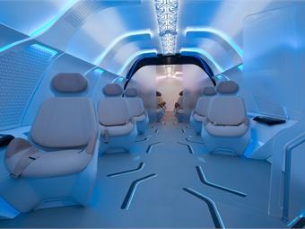 Seats in the Virgin Hyperloop One capsule prototype by Designworks include integrated heating and cooling. Image: Designworks