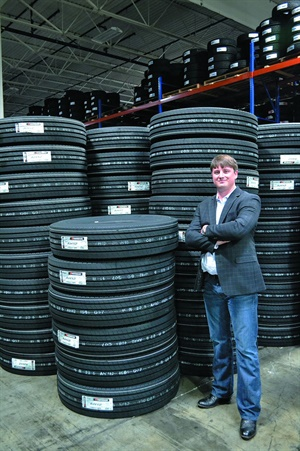 """""""We have the capacity to do $6 million a month,"""" says Dunlap & Kyle Tire Co. Inc. General Manager Adam Waldrup."""