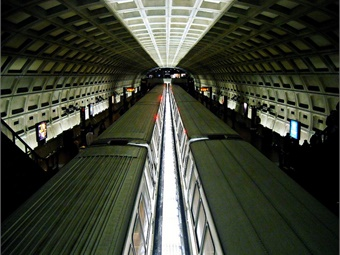 Photo: Dupont Circle Metro Station with trains - NCinDC Flickr