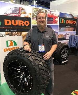 More fitments are being developed for the Duro Frontier MT tire, says Chris Clinton.