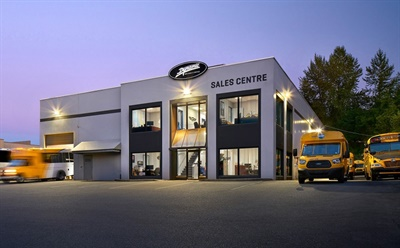 Dynamic Specialty Vehicles is now the certified Blue Bird dealer for the entire province of Alberta. Photo courtesy Blue Bird