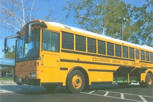 TransPower's ElecTruck Drive System has been retrofitted on a Thomas Built Buses Saf-T-Liner HDX school bus, and it is being tested at California's Escondido Union High School District.