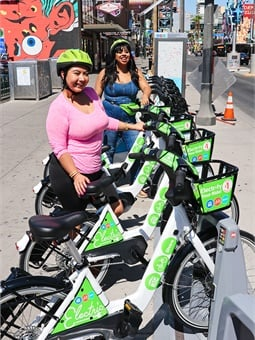 The new electric bikes allow riders to transport across Las Vegas with ease.