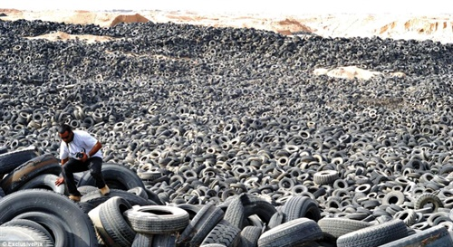 This tire dump in Kuwait may be the world's largest.