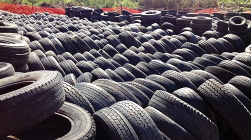 A typical European scrap tire site. Look familiar?