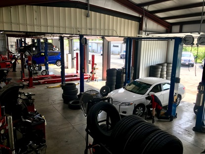 "Eagle Tire Pros is""trying to be proactive and is operating out of an overabundance of caution,"" says Brandon Johnson, the dealership's general manager. ""Anytime something hits at home, it becomes a little more real."""