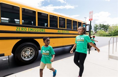 Sixteen school divisions within Dominion Energy's Virginia service area will receive a total of 50 electric school buses by the end of 2020. Photo courtesy Dominion Energy