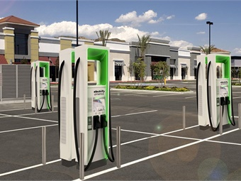 Electrify America will install more than 10 ultra-fast EV charging stations in the Sacramento region, which will be available to the public. Photo: Electrify America