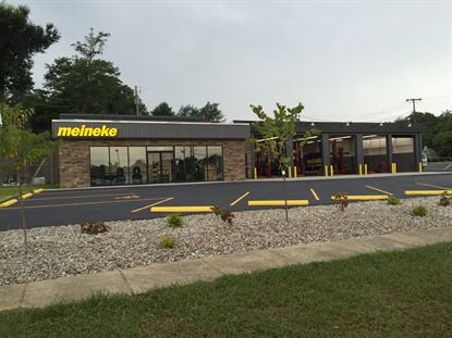 The Meineke in Elizabethtown, Ky. is the first one in the country featuring the new look. The shop is located in a former DLS Tire store.