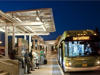 LTD's first BRT corridor, the Franklin line launched in 2007, and it's second line, the Gateway (shown), launched in 2011.