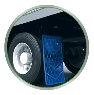Michelin says the aerodynamic mudflaps in its new Energy Guard kit reduce vehicle drag and road spray.