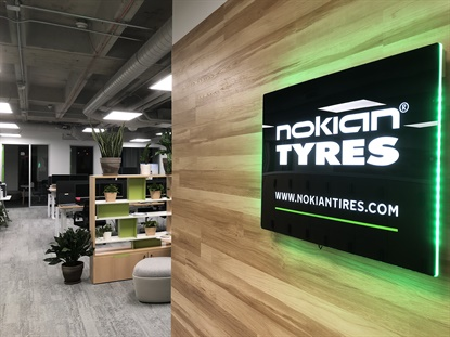 Nokian has moved its North American headquarters from Colchester, Vt., to downtown Nashville. The new office is two hours away from the site of the company's first tire plant in the U.S.
