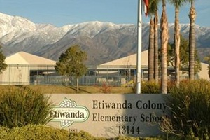 Etiwanda School District's pilot transportation program will be discontinued after the last day of school. Pictured is Etiwanda Colony Elementary, one of the schools involved in the program.