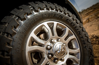 Toyo is adding F-load tires to its Open Country lineup, including nine size options for the Open Country M/T, pictured.