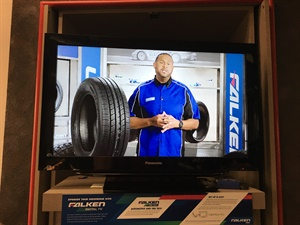 Bakari Howard provides product overviews during segments of Falken TV. The company wants dealers to plug in Falken content to play in their dealerships as a sort of subliminal message for the sales team.