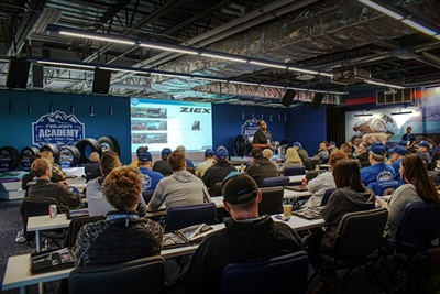 Falken Academy includes classroom-style lessons on the company's product lineup.