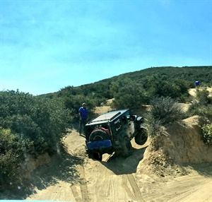The second day of Falken Academy is spent behind the wheel, both on the track at the Auto Club Speedway and on the Cleghorn Trail. On the trail, four tires on the ground is optional in some parts.