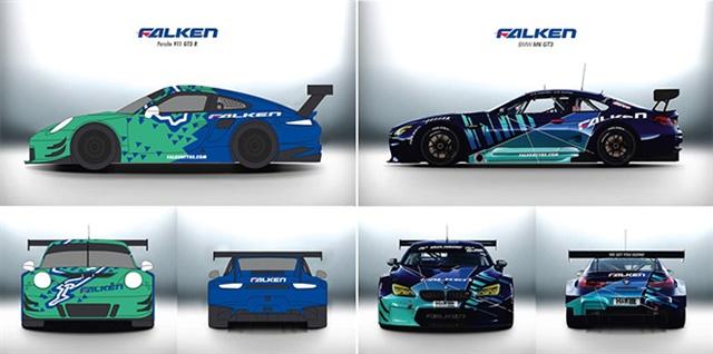 Dirk Hinzmann andSaunas Ramoskacreated the designs for the Falken BMW M6 GT3.
