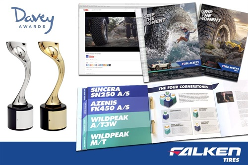 """The """"Grip the Moment"""" campaign for the Falken Tires brand has won four awards for creative design. The Davey Awards recognize creative work from small agencies and companies from around the world."""
