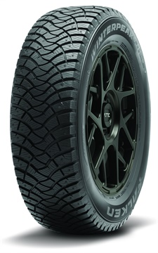 Falken is launching the studdable WinterPeak F-Ice 1 in 2020. Features include a tread pattern with winding grooves for hydroplaning resistance.