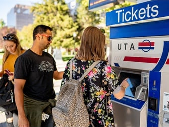 Approximately half of Utah Transit Authority passengers use an electronic fare medium.