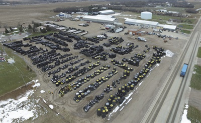 Twin Valley Tire's flagship location in Milbank, S.D., sells everything from consumer tires to farm and off-the-road tires. But used farm tires are a big part of the bottom line, and Jamie LaRoche, part-owner of Twin Valley, says the dealership sells them online and ships them to Mexico, Indonesia, and Canada.