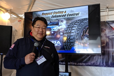 Chairman and CEO Jamie Ma says Federal will introduce another light truck tire, the Xplora A/T in 12 months. But Global Tire Expo attendees can get a sneak peek of the tire at the Federal Tire booth outside the South Hall during the 2019 SEMA (Specialty Equipment Market Association) Show in Las Vegas.