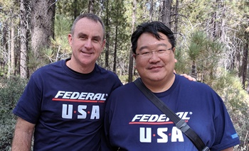 Federal's Jamie Ma, right, pictured with Rick Benton II, vice president of sales and marketing at Black's Tire Service Inc., has partnered with BTS Tire & Wheel Distributors for 19 years.