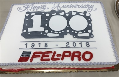 Happy birthday Fel-Pro! The gasket brand turns 100 this year and the company celebrated with cake, parties and promotions.