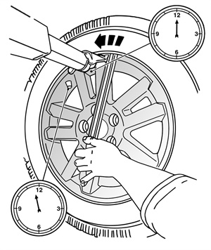 Figure 2: Demounting the outer bead from the wheel.