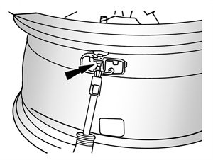 Figure 3: Separating the TPMS sensor from the valve stem.