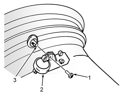 Figure 3: An exploded view of the tire pressure sensor assembly.