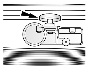 Figure 7: Locating the valve stem rubber.