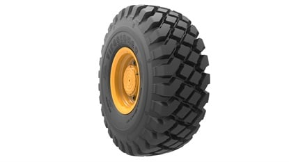 The Firestone VersaBuilt Deep Tread helps equipment move through mud and rock.