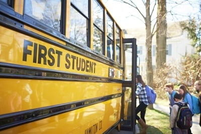 The school transportation provider has acquired two Campeau Bus Lines locations: one in Ottawa and another in Bowmanville. Photo courtesy First Student