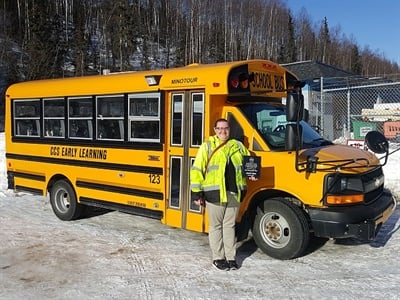 The Alaska Head Start Association named First Student driver Jasmine Dirkes its 2016 Bus Driver of the Year for her commitment to the Head Start program. She also serves as operations supervisor.