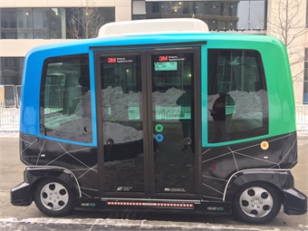 First Transit is partnering with the Minnesota Department of Transportation, EasyMile and 3M to demonstrate shared autonomous vehicle (SAV) capabilities in winter weather. Photo: First Transit