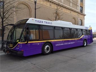 Louisiana State University's Tiger Trails service. Photo: First Transit