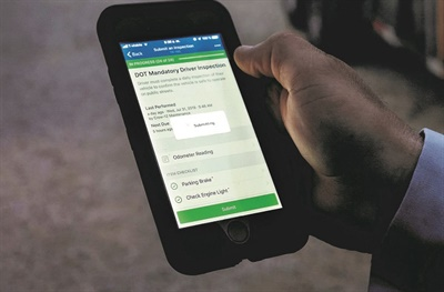 The Fleetio App Directory is a catalog of integrations from industry partners that allow users to automate fleet operations processes and centralize data. Shown here is Fleetio's inspection app. Photo courtesy Fleetio