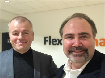 Per Bo Christensen, CEO of FlexDanmark with the author Paul Comfort.